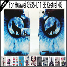 For Huawei G535-L11 EE Kestrel 4G Wallet Card Slots Book Style Flip PU Leather Case Cover Phone Case 14-Pattern Fashion !