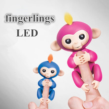 13cm New Fingerlings Child Toy Finger Monkey Christmas Gift Kid Colorful Fingerlings Monkey Kawaii Pet Toys For Children(China)