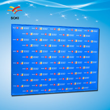 8ft Stright Pop up display Advertising Aluminum exhabation Trade Show Booth Fabric Backwall Stand(China)