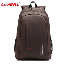 "COOLBELL 15"" Laptop Bag Waterproof Nylon Men Backpack Solid Computer Sucksack New Fashion Notebook Bags Black/Pink/Coffee -FF(China)"