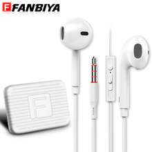 FANBIYA Handsfree Earphone with Mic Mobile Phone In Ear Earbuds Music mp3 player Handset Earpiece for original iphone Headset