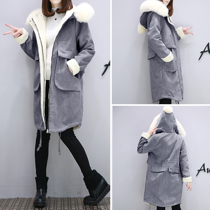 2016 autumn and winter womens new lamb wool coat jacket loose large size coat thicker Korean version of the trend of long cottoОдежда и ак�е��уары<br><br><br>Aliexpress
