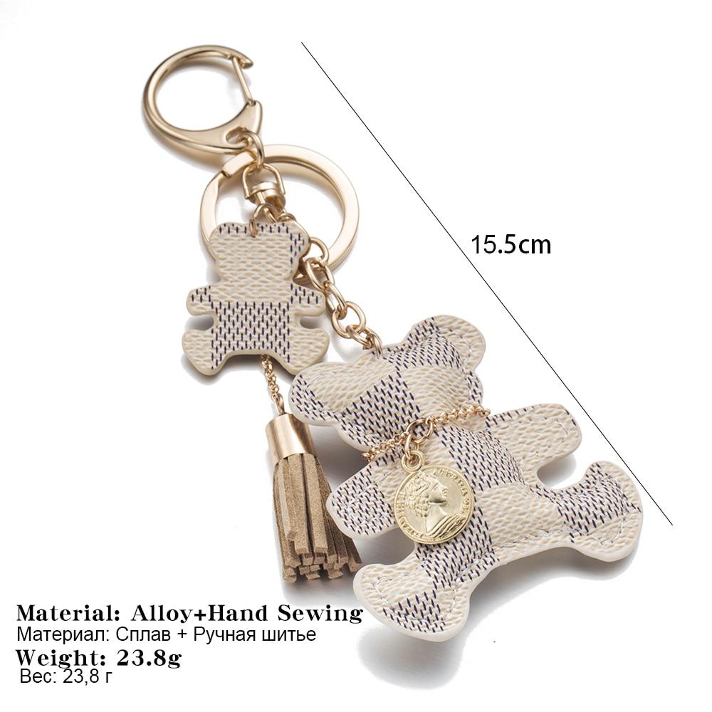 FAMSHIN-2017-New-fashion-Key-Chain-Accessories-Tassel-Key-Ring-PU-Leather-Bear-Pattern-Car-Keychain