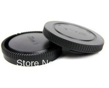 Wholesale 10 Pairs camera Body cap + Rear Lens Cap  for for NEX NEX-3 E-mount free shipping