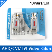 10Pairs Twisted BNC CCTV Video Balun Passive Transceiver Cat5 CCTV UTP 200M Range For HD 720P HDCVI/AHD/HDTVI Camera
