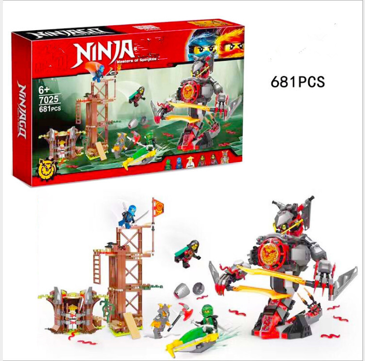 734pcs Ninja New 10583 Dawn of Iron Doom DIY Model Building Kit Blocks figures Toys Playset Compatible with 70626<br>
