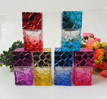 5X30ML Water Cube Design  Empty Perfume Bottles Atomizer Spray Glass Refillable Bottle Spray Scent Case