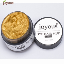 Love Beauty Female Joyous One-time Hair Color Spray Mud Cream Women Men Hair Dye 160905 Drop Shipping(China)