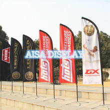 customize feather flag banner streamer,flagpole or with base Free shipping outdoor camping equipment beach golf advertising(China)