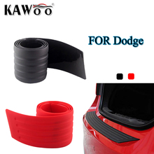 KOSOO For Dodge Caliber Journey Avenger Magnum Rubber Rear Guard Bumper Protect Trim Cover Sill Mat Pad Car Styling Accessories