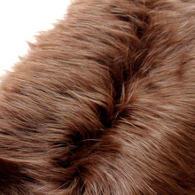"Coffee Solid Shaggy Faux Fur Fabric (long Pile fur)  Costumes  Cosplay Cloth  36""x60"" Sold By The Yard  Free Shipping"