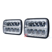 For Ford Mustang 1979-1993 4x6Inch square Hi/Lo Beam LED truck headlights front headlamp with parking lighting replacement lamps(China)