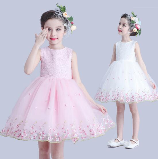 Newest Ball Gown Dress for Girls Elegant Festive Sweet Bruidsmeisjes Jurk Kids Wedding Floral New Year Costumes For Children<br><br>Aliexpress