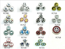 Multiples Options Football Floating Charms 10pcs Alloy Charms Floating Charms For Memory Living Glass Lockets