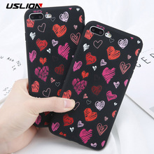 Buy USLION Cartoon Graffiti Love Heart Case iPhone 7 Plus Fashion Soft TPU Silicon Phone Cover Cases Coque iPhone7 8 Plus for $1.69 in AliExpress store