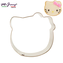 Mijiang 1PC Kawaii Cute Hello Kitty Cake Mold Metal Stainless Steel Fondant Cookie Cutters Cupcake Cake Decorating Tools 7109