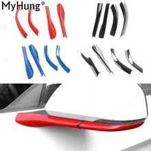 Car Styling Side Door Rearview Mirror Base Cover Trims Exterior Mouldings For Ford Mustang 2015 Up Decoration Car Accessories(China)