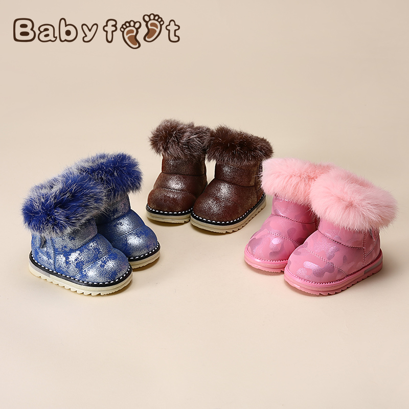 0-2 years Child baby boy girl children winter Thick Warm sports snow boots toddler shoes velvet Cotton-Padded Ankle Booties Kids<br><br>Aliexpress