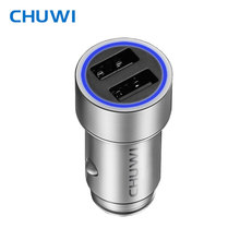 CHUWI Ublue C-100 CNC Portable Q Car Charger with Dual USB Ports Strong Compatibility with Mini-sized Design For Tablet PC Phone(China)
