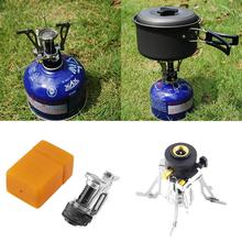 Folding Mini Camping Survival Cooking Furnace Stove Gas Outdoor Brand New