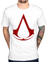 Official Mens Assassins Creed Logo T-Shirt Syndicate Rogue Identity Pirates Game(China)