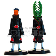 Free Shipping Anime Naruto Zetsu VS Uchiha Obito PVC Action Figures Collectible Model Toys set of 2 #LT011