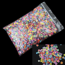 New Arrival 10000pcs/bag Top Quality Nail Art 3D Mixed Plum Blossom Soft pottery nail Tip flower DIY Decoration Sticker Supplies