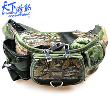 30*9*14cm Fishing Bag Multifunctional Fishing Tackle Pack Bag Waterproof Canvas Waist Pack Bolsa Para Pesca Fishing Lure Bag