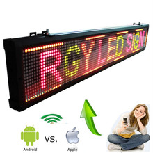 101cm Multi-color ios And Android Wifi wireless Remote Programmable Advertising LED Display Board