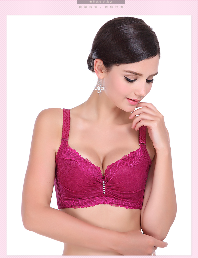 17 hot! 3/4 cup lace push up bra summer style large size sexy women underwear thin section cup C cup D cup E bra for women 4
