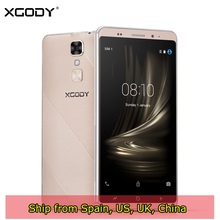 Ship From Spain XGODY D17 Smartphone Android 5.1 5.5 Inch 1GB RAM 16GB ROM Quad Core 8MP GPS Dual Sim 3G Unlocked Cell Phones(China)