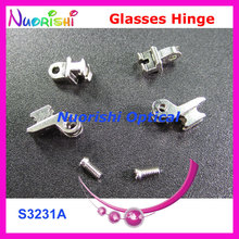 50sets or 100pcs Quality Glasses Eyewear Spectacle Eyeglasses Eyewear Hinge Screws S3231A S3231B Free Shipping(China)
