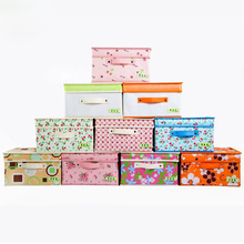 Economic Home Storage Holder Fashion Nonwoven Home Storage Bag Bedding Clothing Storage Box 10 Colors S,M,L,XL