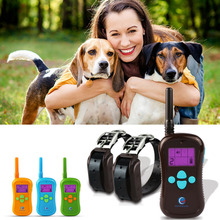 PETINCNN Dog Shock Collar Rechargeable Waterproof Remote Control Dog Training Collar 600M Range with LCD Display For 1 or 2 Dogs