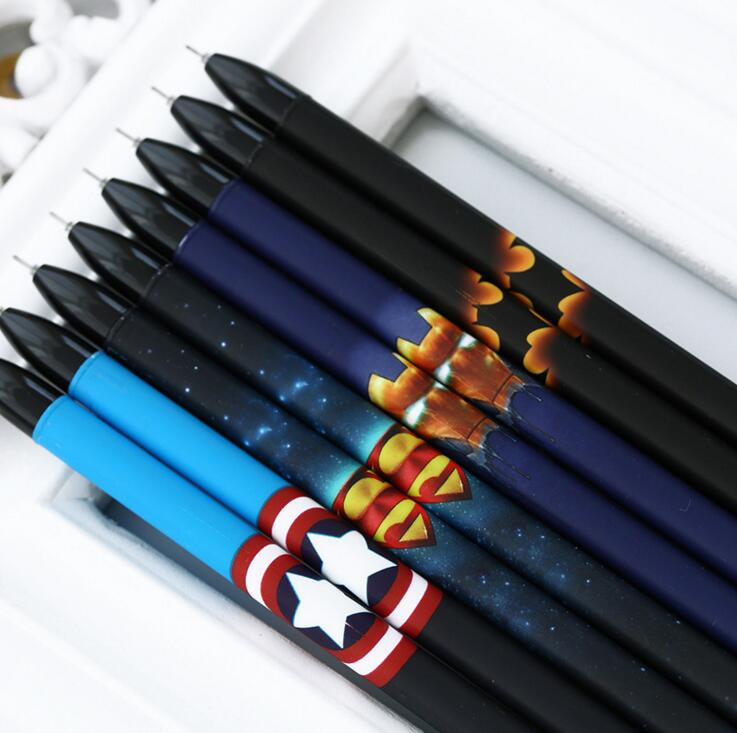 4pcs/lot 0.5mm New Arrival Cool Super Hero Gel Ink Pen Promotional Gift Stationery School &amp; Office Supply<br><br>Aliexpress