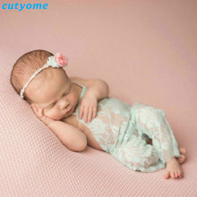 Cutyome Lace Romper Newborn Photography Props Accessories For Infant Boys Girls Photography Props Clothes Baby Photo Props 2017
