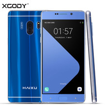 Xgody HAIXU Smartphone 5.5 Inch Double Curved Screen Quad Core 1GB RAM 16GB ROM Android 6.0 2SIM 13.0MP 4G Unlocked Cell Phones