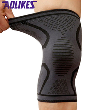 AOLIKES 2 Pcs/lot Fitness Running Cycling Knee Support Braces Elastic Nylon Sport Compression Knee Pad Sleeve For Basketball