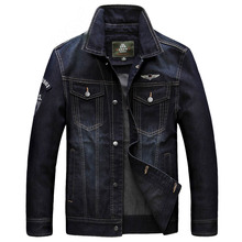 AFS JEEP 2016 Men'S Denim Jacket Male Outwear Brand Coat Spring & Autumn Fashion Retro Jean Jacket Mens Casual Jacket Plus Size(China)