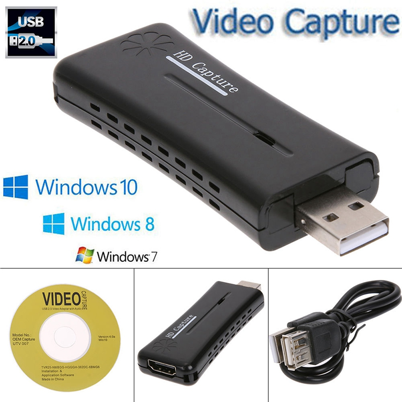 Mini Portable HD USB 2.0 Port HDMI Monitor Video Capture Card for Computer