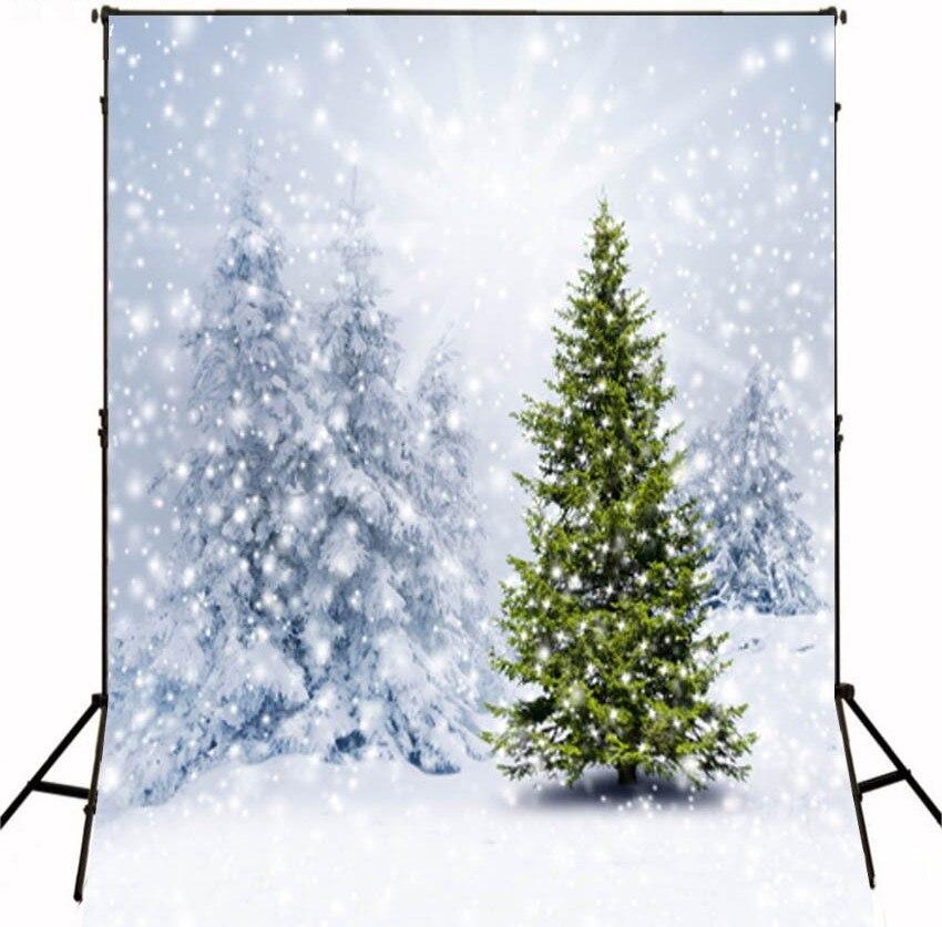 Winter Snow Tree photo studio background High-grade Vinyl cloth Computer printed christmas photo backdrop<br><br>Aliexpress