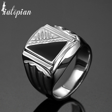 Iutopian Brand 2016 Men Classic Big Size Ring Anels For Man Antique Big Size Finger US Size 8 to 12 #RB02030(China)