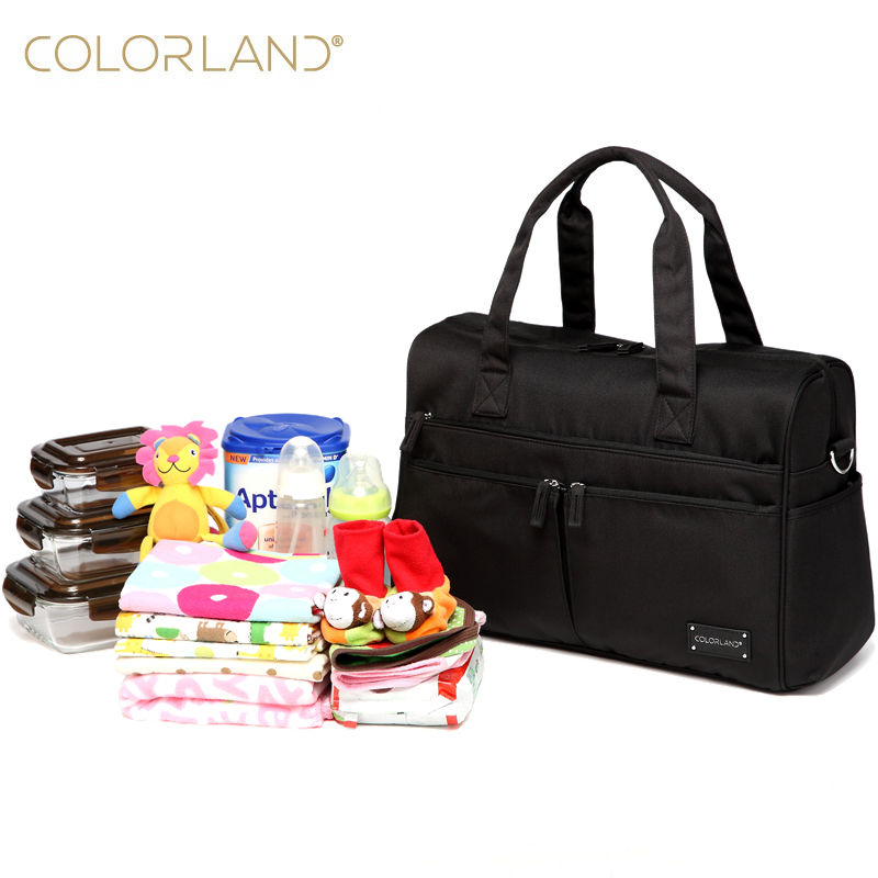 COLORLAND Baby Diaper Bag Organizer Fashion Mummy Maternity Nappy Bag Brand Mommy Travel Messenger Infant  Bags For Mom Handbag <br>