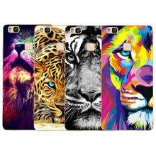 The hottest and most popular Transparent Soft Silicone lion TPU soft Cover Coque For Huawei P8 P8 Lite P9 P9 lite Cases luxury
