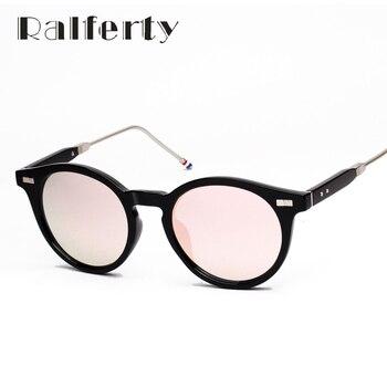 Ralferty Vintage Na Moda Óculos De Sol Das Mulheres Dos Homens UV400 Revestimento de Espelho Óculos de Sol, Moderno Retro Verão Óculos Oculos luneta 1680