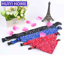 Huiyi Home Pet Dog Bandana 4 Size Printing Puppy Scarf Collar Pets Products For Dogs ENA075