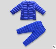 Toddler Boy Girl Sportswear Set Children Warm Coat Down Jacket+Trousers Jacket Ski Suit For Children Boys Child Winter Clothes(China)
