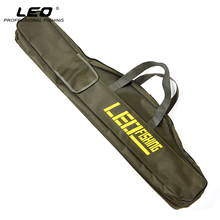 Double Layer Canvas Fishing Bag 100cm 150cm Portable Folding Fishing Rod Bag Fishing Tackle Carrier Bag(China)