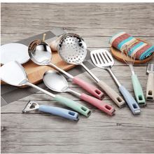 210206/Cookware Sets/cooking shovel/Stainless steel spatula set /thickening long handle /Ergonomic handle
