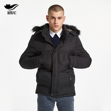 HAI YU CHENG Parka Men's Winter Jackets College Coat Male Windbreaker Men Winter Coat Plus Size Men Jacket Thick Trench Anorak(China)